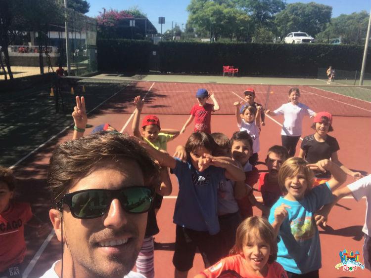 Actividad deportiva 1° y 2° de primaria del colegio Doña Rosa Fernández